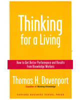 Thinking for a Living by Tom Davenport
